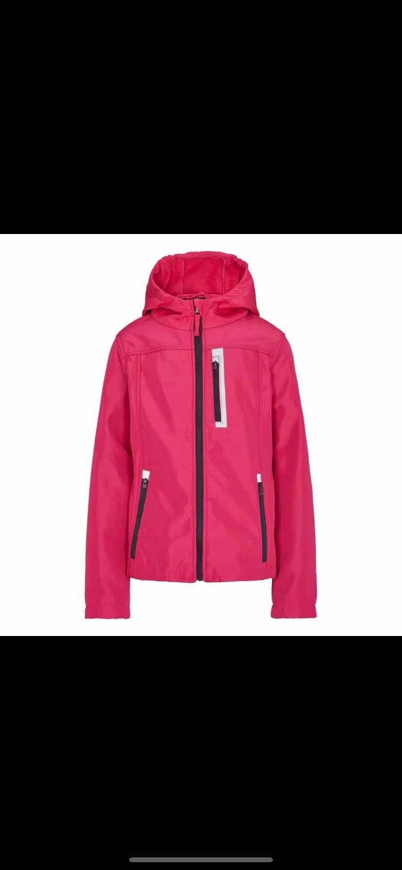e9eda28d Crane softshell jakker til børn i lyserød str 134-