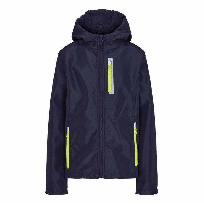 2ec62e42 Crane softshell jakke til børn i blå str 146-152